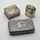 19TH C. SILVER BOXES