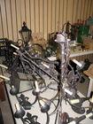 Iron chandeliers
