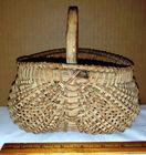 """Antique Splint Double Belly Basket 7"""""""