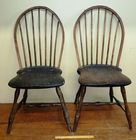 Pair of 18th c Windsor Side