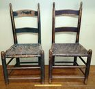 Two 19th c Splint Seat Chairs