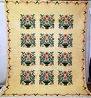 Outstanding Antique Hand Stitched Quilt