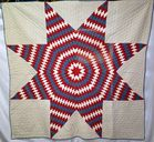 Antique Hand Stitched RED WHITE
