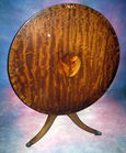 Tilt top inlaid mahog table