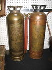 Vintage Copper Fire Extingishers