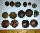 Lot of 15 Misc. Dug Civil War Buttons