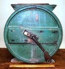 Green painted 19th c Butter Churn