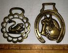 Two Antique Horse Brasses