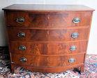 Antique bowfront chest