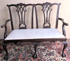 Chippendale style bench