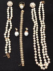Gold, pearl and diam jewelry