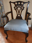Carved Chippendale style chair