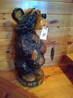 Hand Carved Fishing Bear