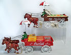 Cast Iron Horse Drawn Wagons