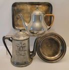 Silver Soldered Trays, Pewter Teapots