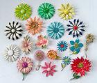 Enameled Flower Pins