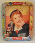 1950 Coca Cola Menu Girl