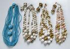 Beaded Necklaces, Earrings