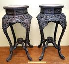 19th c Ornate Rosewood Fern Stands