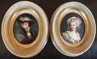 Pr oval porcelain portraits