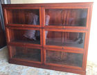 Double barrister bookcase