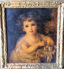 Portrait of young girl oil