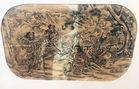 Lg Asian woodblock