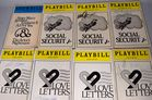 Lot 121 Autographed theater playbills