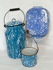 Blue Swirl Enamelware