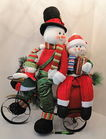 "26"" Tall Snow Family On Tricycle"