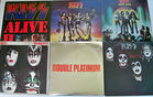 Kiss 33rpm Record Albums