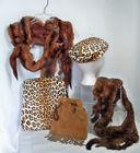 Fur Leopard Look, Mink Wraps
