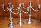3 sterling candelabra