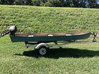 12 ft Riverhawk, trolling motor