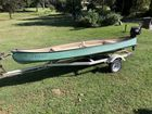 nice galvanzied trailer with boat