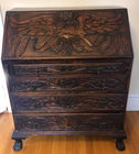 Carved Eagle slant lid desk