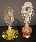 Cut glass figural perfume lot