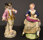 Porcelain figures one is Meissen