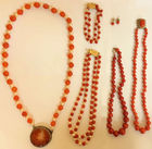 Coral beads, 14k clasps etc lot