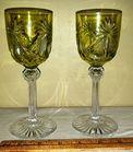 Bohemian Glass Wine Glasses