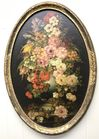 "Floral in Oval frame 29""x19"""