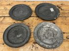 4 18th century pewter chargers