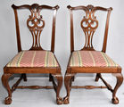 Antq Salem Chippendale chairs