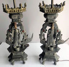 Pewter figural lamps