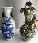 Vases including Austrian figural