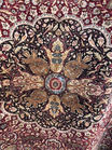 19th C silk rug detail