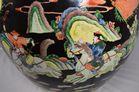 Porcelain fish bowl. Hand painted