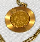 pendant & two 14kt chains