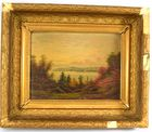 Lot 422: D A Fisher oil painting