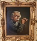 a. Costa signed painting Albert Einstein